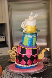 Leaning teapot cake